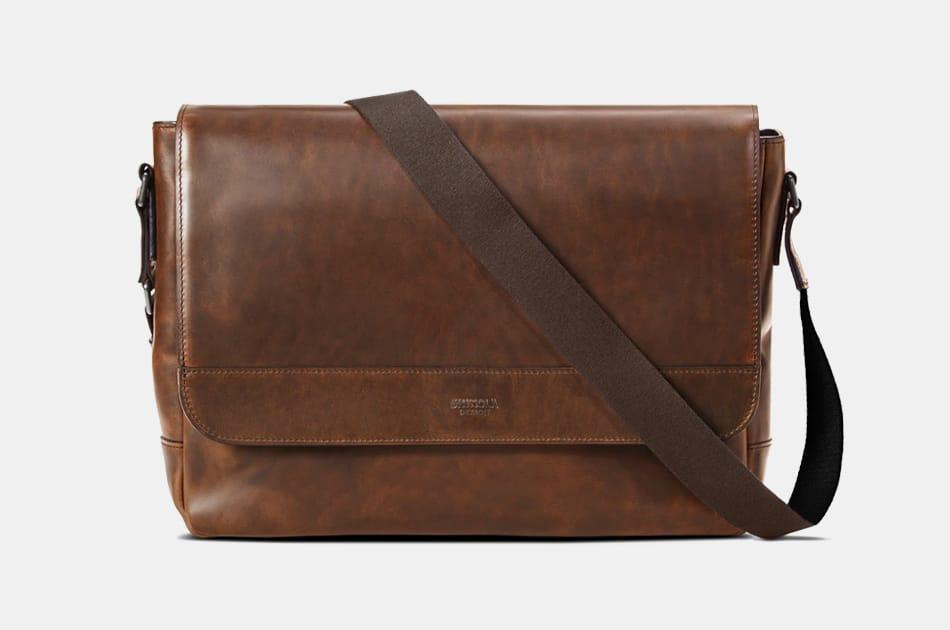 Shinola Slim Messenger Bag
