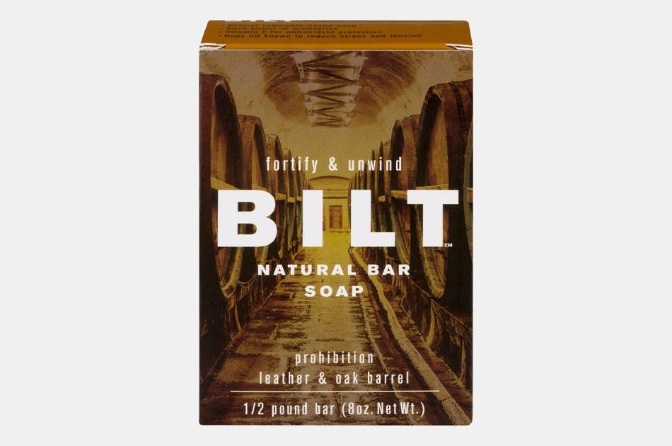 Bilt Prohibition Bar Soap - Leather & Oak Barrel