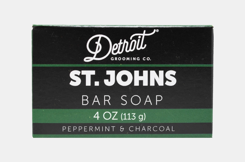 Detroit Grooming Peppermint Charcoal Bar Soap