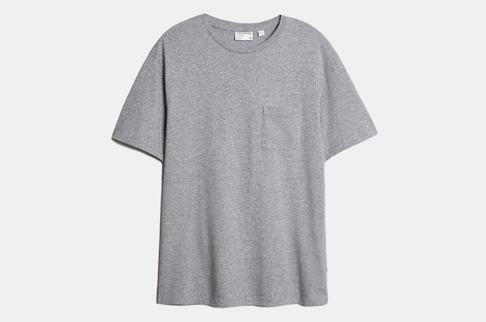 Frank and Oak The Relaxed Essential Tee in Concrete Gray
