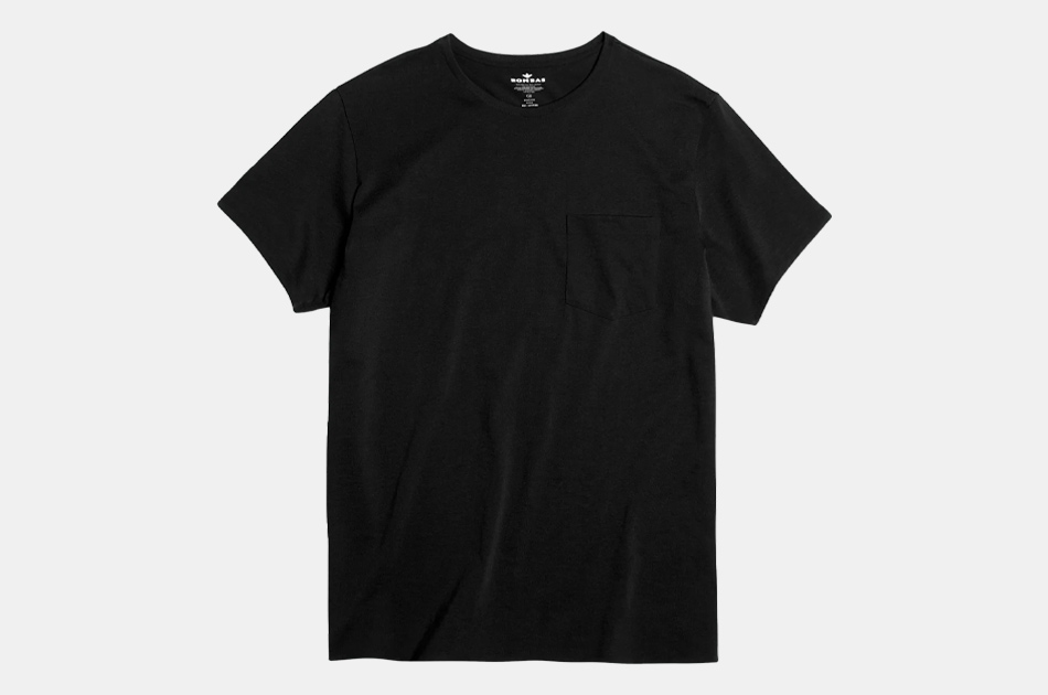 Pima Cotton Pocket Crew Neck T-Shirt