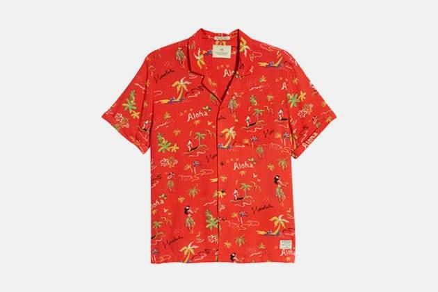 Scotch & Soda Hawaiian Fit Aloha Print Camp Shirt