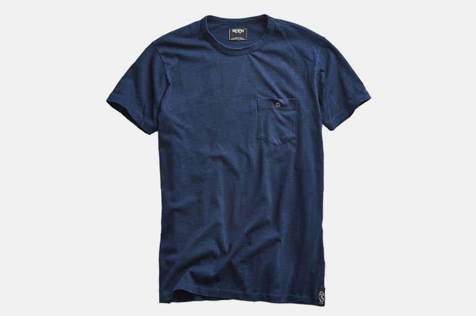 Todd Snyder Indigo Slub Jersey Pocket T-Shirt