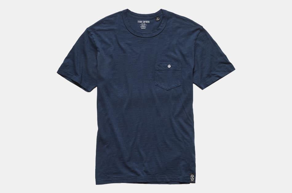 Todd Snyder Made In L.A. Slub Pocket T-Shirt