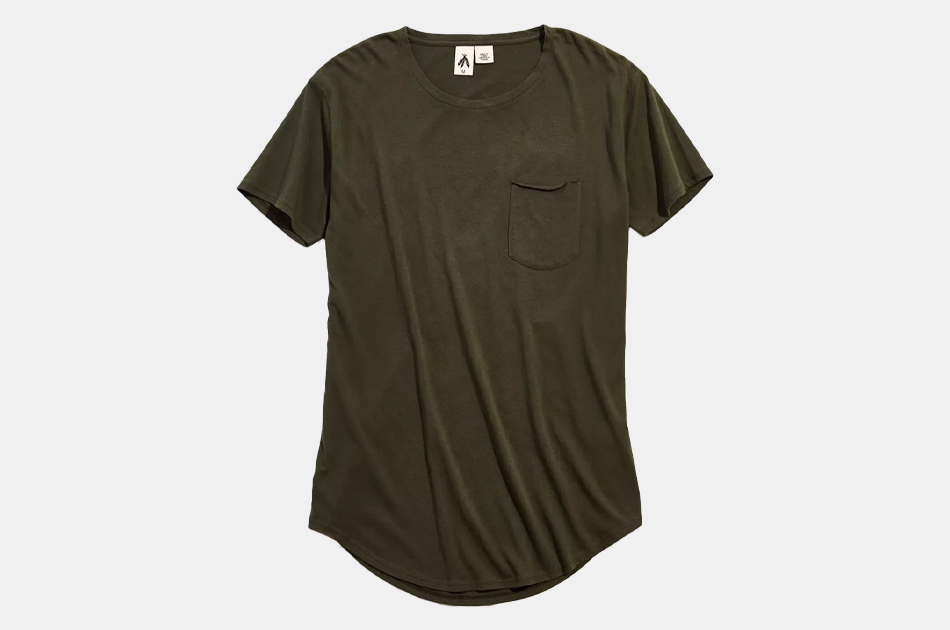 Urban Outfitters Standard Cloth Scoop Neck Curved Hem Tee