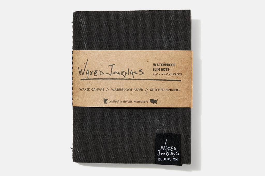 Waxed Journals Waterproof Slim Notebook, Slate