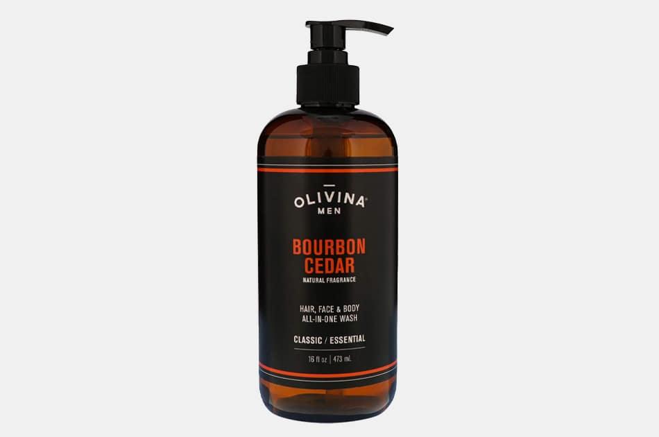 Olivina Men All-In-One Bourbon Cedar Body Wash