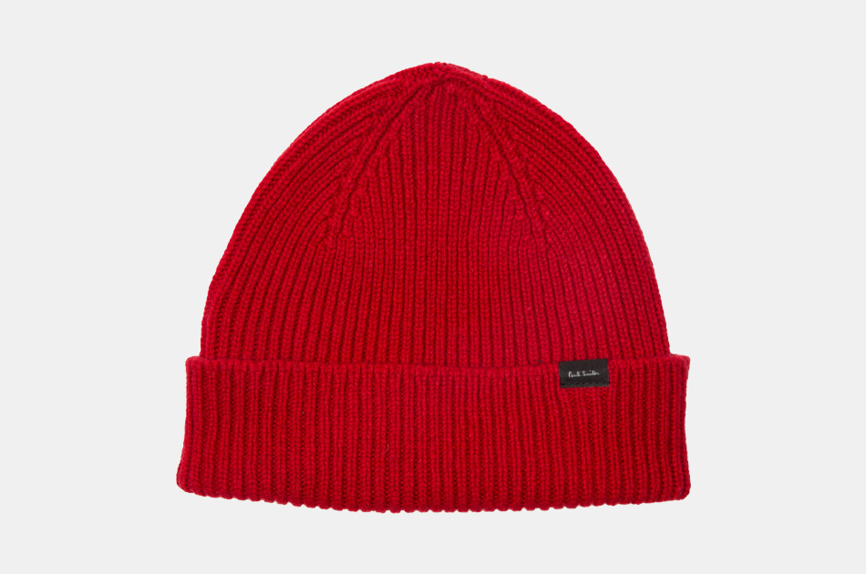 Paul Smith Cashmere and Merino Wool-Blend Beanie Hat