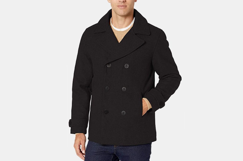 Amazon Essentials Wool Blend Heavyweight Peacoat