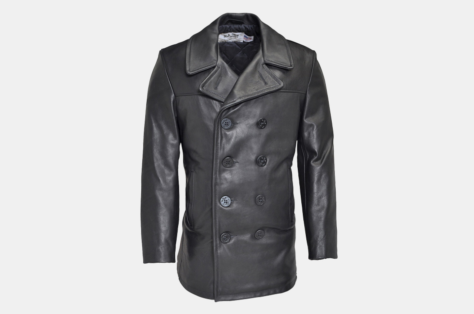 Schott Leather Naval Peacoat
