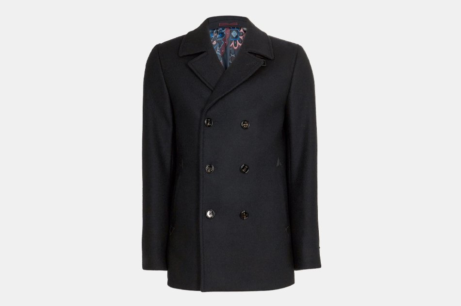 Ted Baker Westun Double Breasted Wool Peacoat