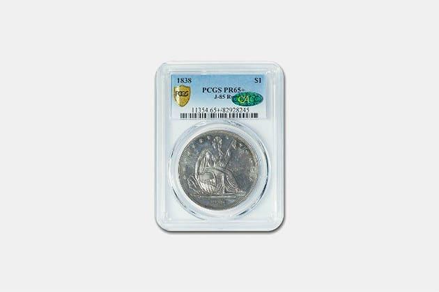 1838 Gobrecht Seated Dollar Coin