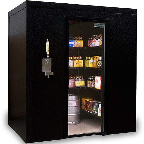 Brew Cave Walk-in Cooler and Kegerator