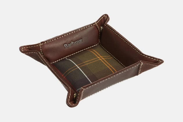 Barbour Leather Valet Tray