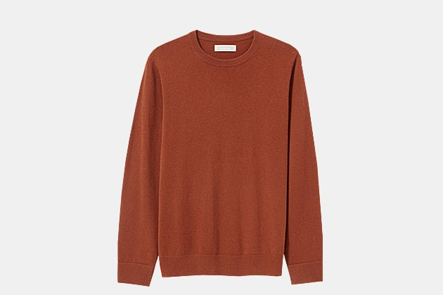 Everlane Cashmere Crew In Red Rock