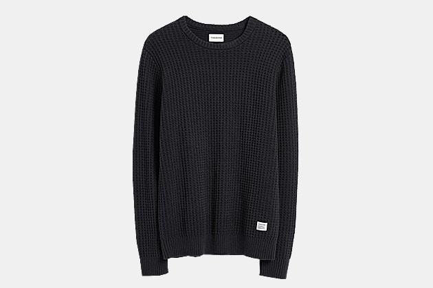 Frank And Oak Waffle Stitch Crewneck Sweater