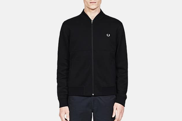 Fred Perry Zip-Through Piqué Bomber Sweat