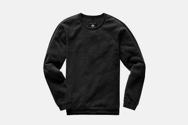 Reigning Champ Charcoal Polartec Fleece Sweater