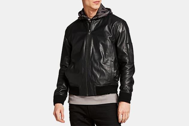 Timberland Classic Leather Bomber Jacket