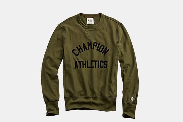 Todd Snyder + Champion Flock Sweatshirt