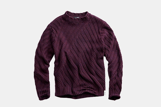 Todd Snyder Hand Knit Merino Cable Crewneck