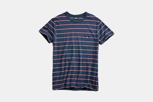 Todd Snyder Short Sleeve Stripe T-Shirt