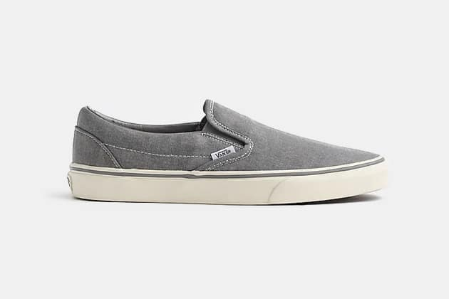 Vans for J.Crew washed canvas classic slip-on sneakers