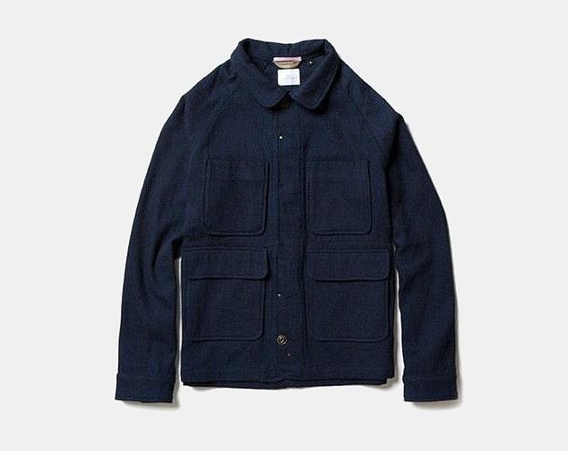 Apolis Indigo Wool Chore Jacket