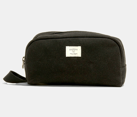 BillyKirk No. 258, Waxed Canvas Zipper Dopp Kit