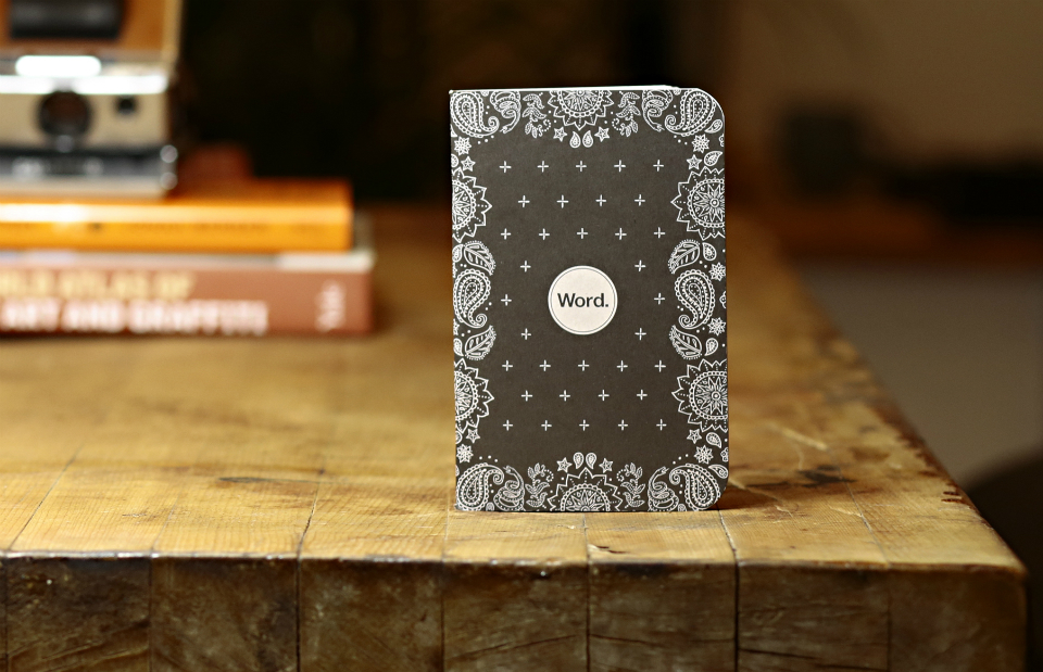 Word. Notebooks Black Bandana Limited Edition