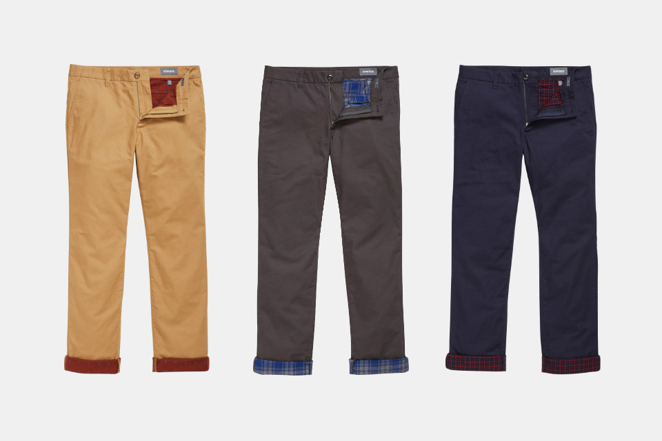 Bonobos Flannel-Lined Chinos