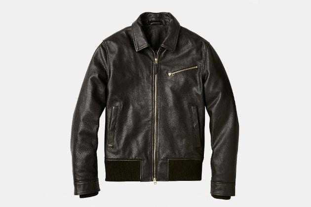 Bonobos Leather Bomber Jacket