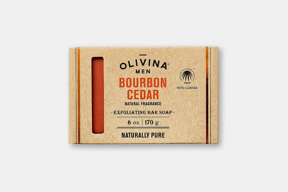 Olivina Men Bourbon Cedar Bar Soap