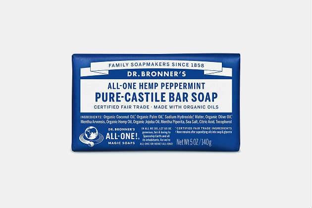 Dr. Bronner's Pure Castile Peppermint Bar Soap