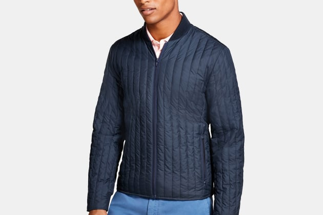Brooks Brothers Water-Repellent Quilted Bomber Jacket