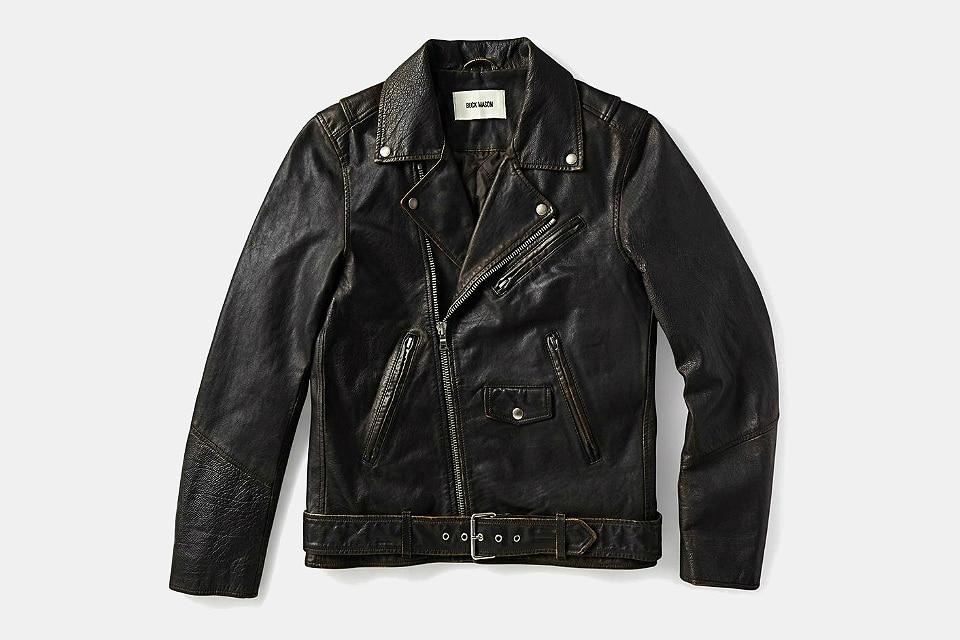 Buck Mason Battered Moto Jacket