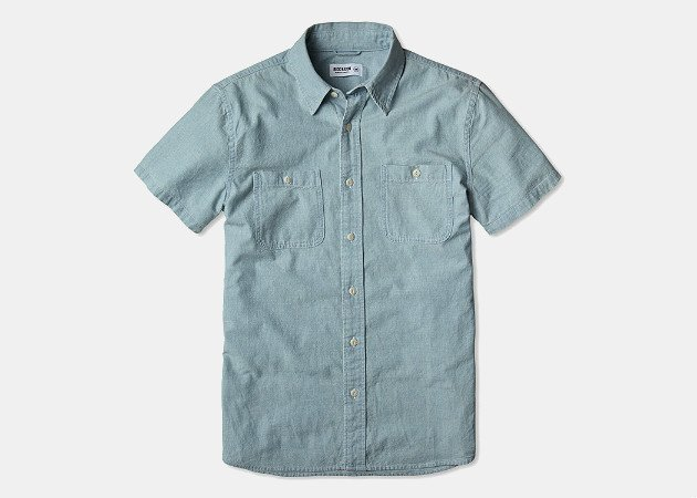 Buck Mason Short Sleeve Chambray Shirt