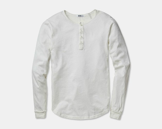 Buck Mason Natural Henley
