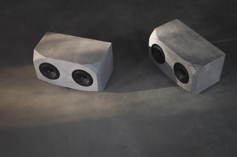 Brutalist-Lab Titan Concrete Speakers
