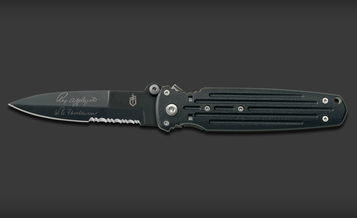 Covert Double Bevel Serrated Tactical Knife