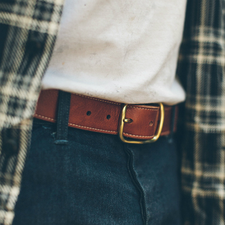 The Double Belt In Whiskey Steerhide