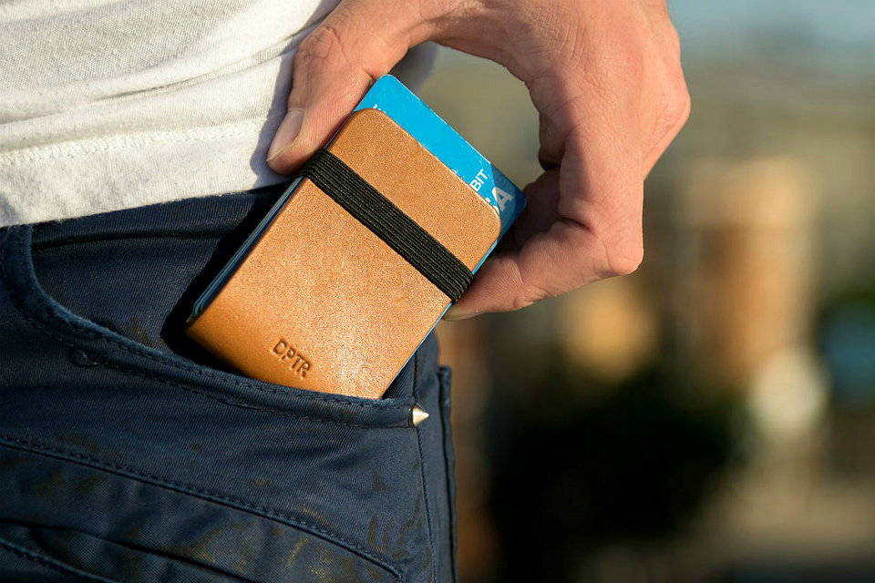 DPTR Leather Clamshell Wallet