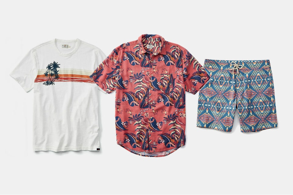 Faherty Brand x Huckberry Sequoia Sunset Collection