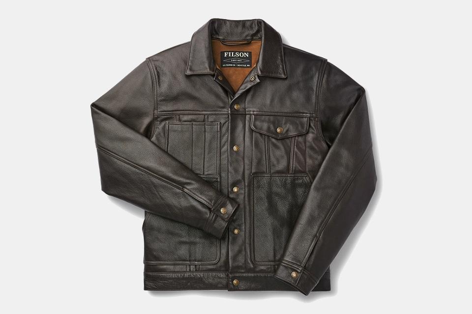 Filson Leather Short Cruiser Jacket