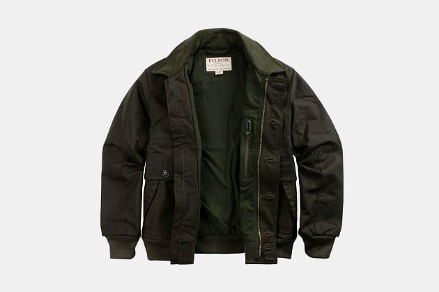 Filson Ranger Water Repellant Cloth Bomber Jacket