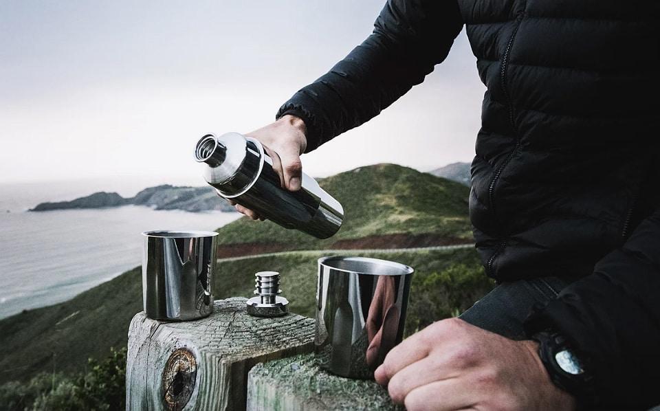 High Camp Firelight Flask