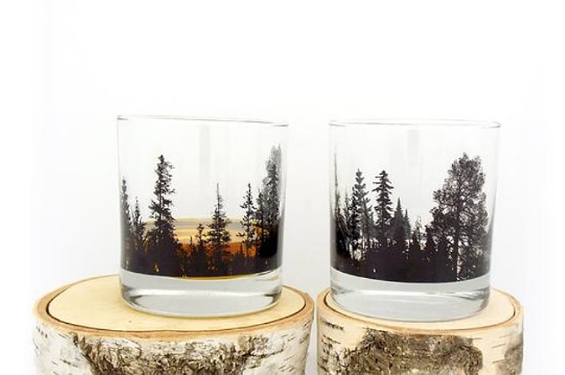 Black Lantern Forest Whiskey Tumbler