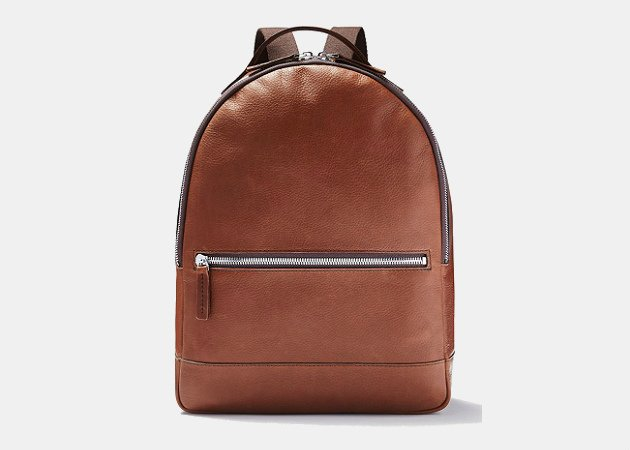 Frank and Oak Leather Backpack