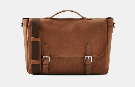 Frank and Oak italian Leather Messenger