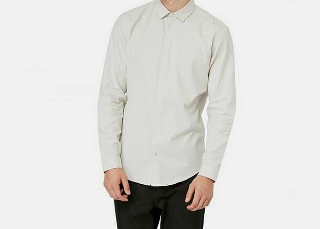 Frank & Oak Grey Oxford Shirt